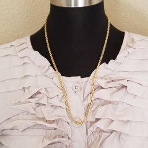 Jewelry - Gold Tone Rope Chain Necklace